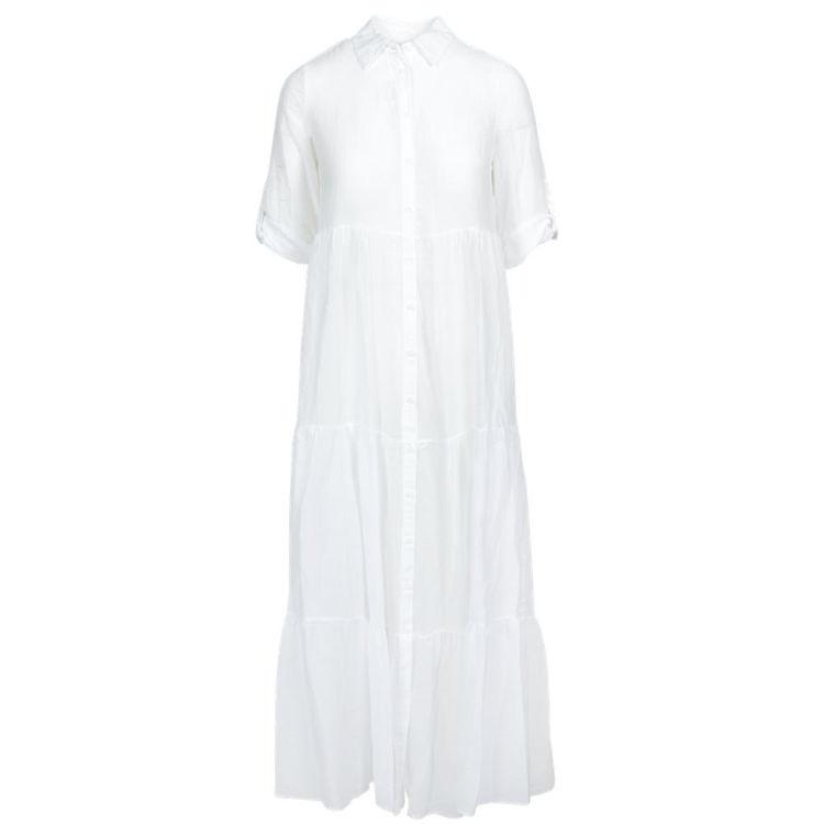 skjorte kjole silke-bomuld