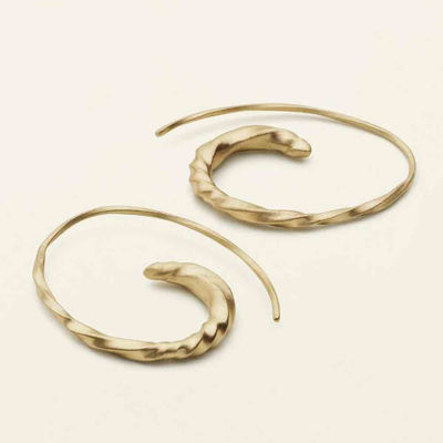 Flow hoops asymmetric gold