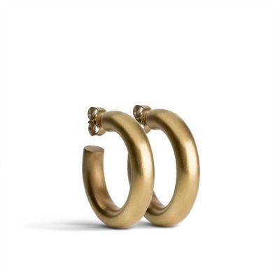 Chunky hoops øreringe guld