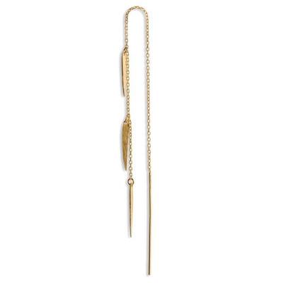 Chain earring 3 Spears guld