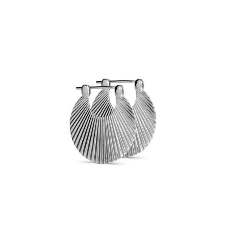 Small shell earring sølv