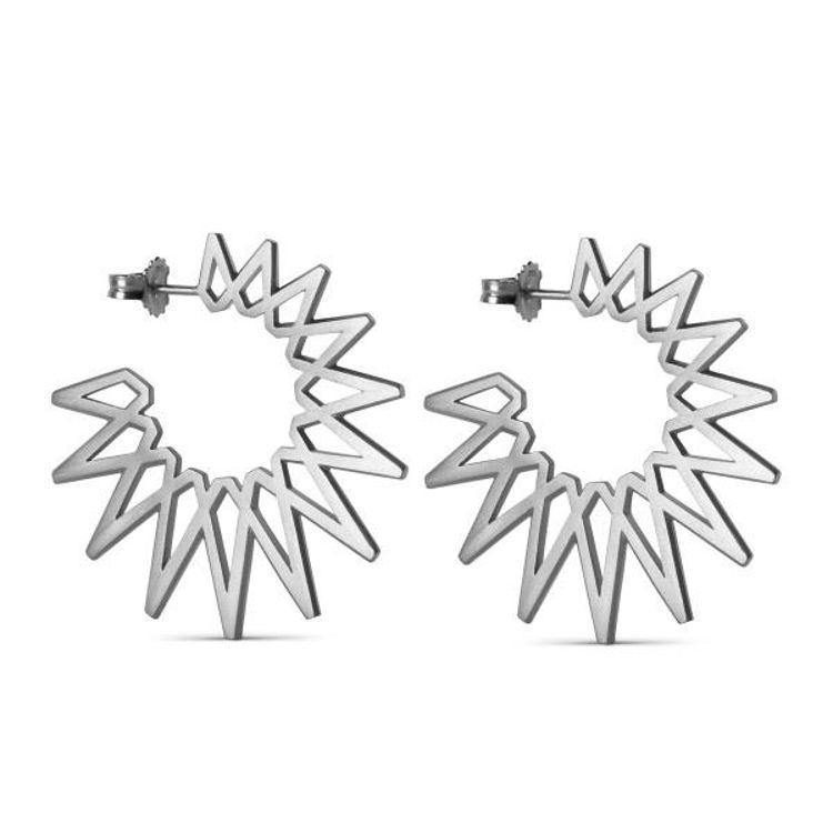 Sun earrings big sølv