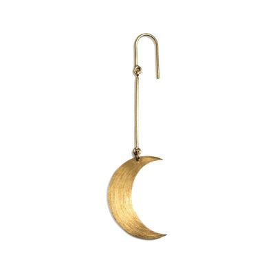 Half moon earring guld