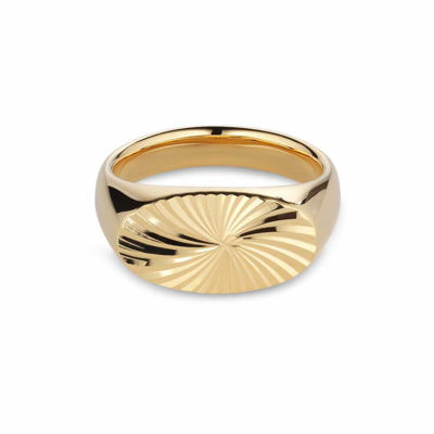 Reflection Signet ring guld