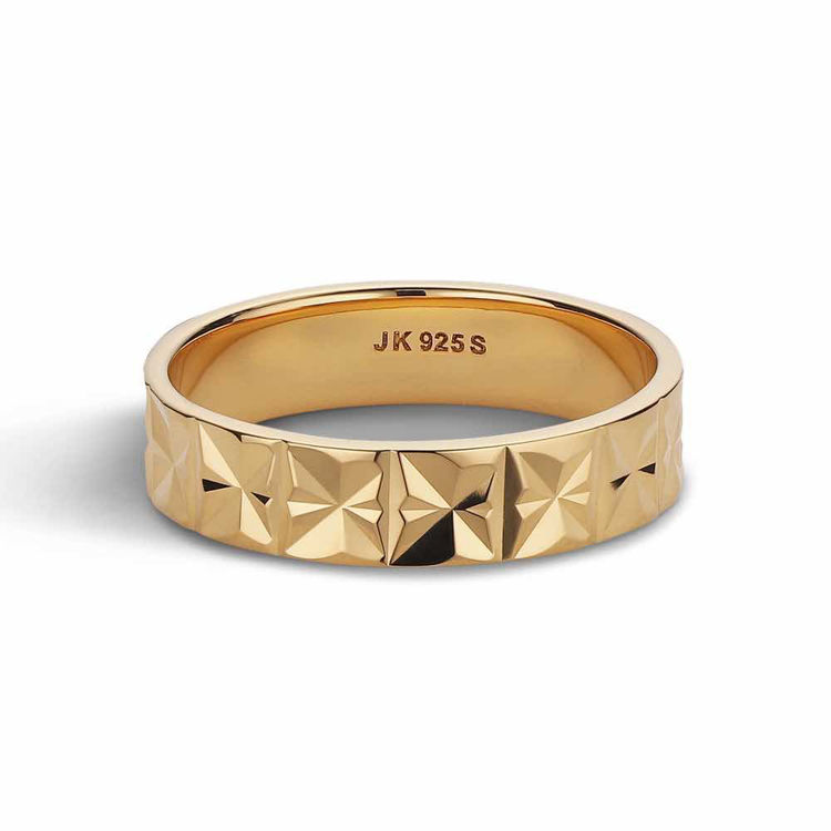 medium reflection ring gold