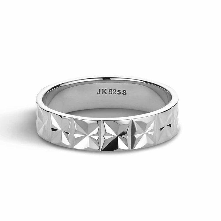 medium reflecion ring silver