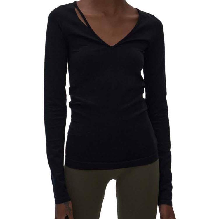 Slash V-neck blouse
